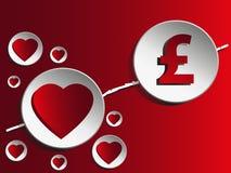 Miłość i pieniądze Fotografia Royalty Free