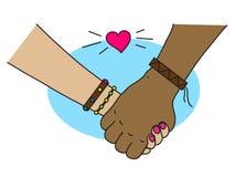 Miłość i przyjaźń różni ludzie Zdjęcie Royalty Free