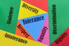 Miłość i tolerancja obrazy stock