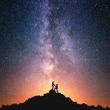 Miłość i wszechświat Zdjęcia Stock