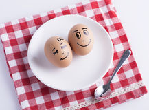 Miłość jajek para Zdjęcie Stock