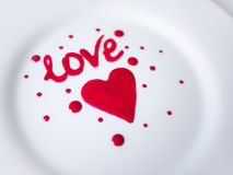 miłość jest dzień st serce walentynki Zdjęcia Stock
