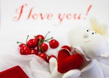 miłość jest dzień st serce walentynki Fotografia Stock