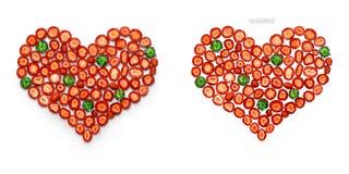 Miłość jest słodka i czerwona Fotografia Royalty Free