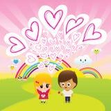 Miłość jest w powietrzu Obraz Royalty Free