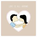 Miłość jest wszystkie around3 Zdjęcie Royalty Free