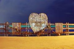 Miłość kędziorka most Zdjęcie Royalty Free