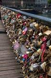 Miłość kłódki, Pont des sztuki Obrazy Stock