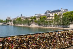 Miłość kłódki, Pont des sztuki Obrazy Royalty Free