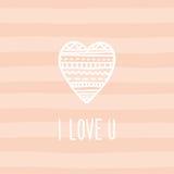 Miłość karciany szablon Zdjęcie Stock