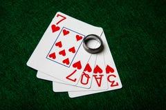 Miłość karty Zdjęcie Royalty Free
