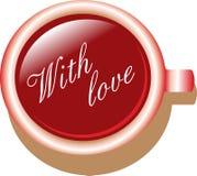 miłość kawowa ilustracji