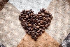 Miłość, kawowy kochanek, robić z pojęciami Fotografia Royalty Free