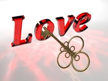 Miłość klucz Zdjęcia Stock