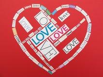Miłość kolaż Fotografia Royalty Free