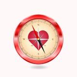 Miłość kompas Obrazy Royalty Free