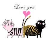 Miłość koty Zdjęcia Royalty Free