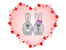 miłość króliki ilustracji