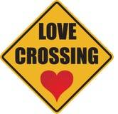 Miłość krzyżuje znaka Zdjęcie Stock