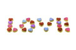 Miłość kształta ciastka Zdjęcia Royalty Free