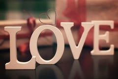 Miłość kształta teksta list Zdjęcia Royalty Free