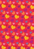 Miłość kształta wzór Fotografia Royalty Free
