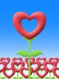 Miłość kwiat w ogrodowym ilustracyjnym wizerunku Obrazy Royalty Free