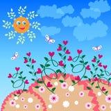 Miłość kwiatu tło Royalty Ilustracja