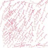 Miłość lettar Fotografia Royalty Free