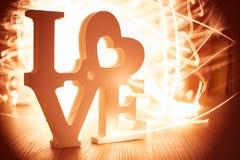 Miłość Lightpainting Zdjęcie Stock
