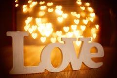 Miłość Lightpainting Zdjęcia Stock