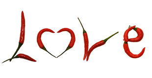 miłość listowy pieprz Zdjęcie Stock