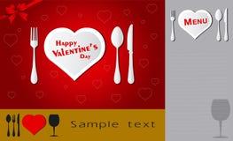 miłość menu Fotografia Stock