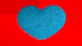 Miłość, miękki błękitny serce Zdjęcie Stock
