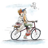 Miłość na rowerze Fotografia Royalty Free