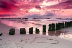 miłość nadmorski Zdjęcia Stock