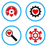 Miłość narzędzi Zaokrąglone Wektorowe ikony Fotografia Stock