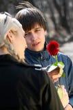 miłość nastolatek Fotografia Stock