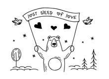 Miłość niedźwiedź obrazy royalty free