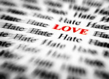 Miłość & nienawiść obrazy stock