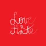 Miłość & nienawiść royalty ilustracja