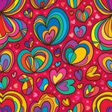 Miłość nieznane wzoru bezszwowy wzór Zdjęcia Stock