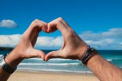 Miłość ocean Fotografia Stock