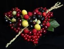 miłość od owoc i jagod Zdjęcie Royalty Free