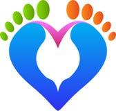 Miłość odcisk stopy Zdjęcie Royalty Free