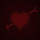 Miłość odnosić sie formułuje pojęcie Obraz Royalty Free