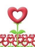 Miłość ogród na białym tle Zdjęcie Stock