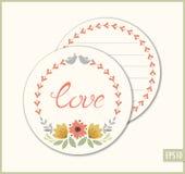 Miłość okręgu karta Obrazy Stock