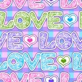 Miłość opakunkowy papier Obrazy Stock