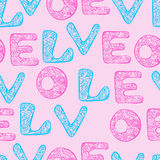 Miłość opakunkowy papier Zdjęcia Stock
